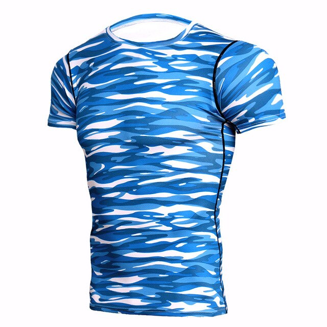 3D Camo Compression Top