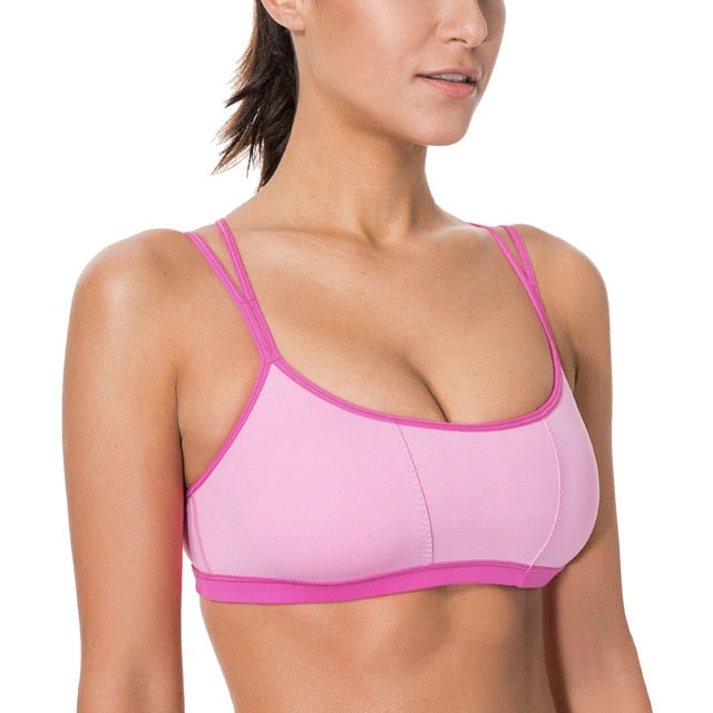Padded Criss Cross Strap Sports Bra
