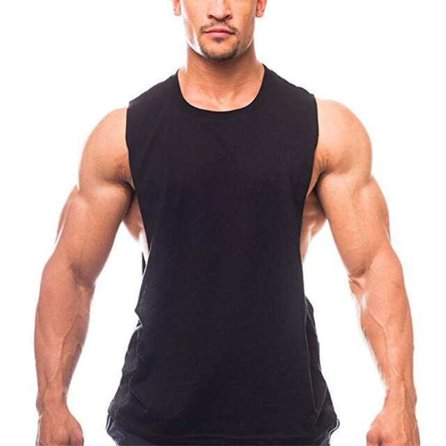 Men's Cut Out Sleeveless Shirt