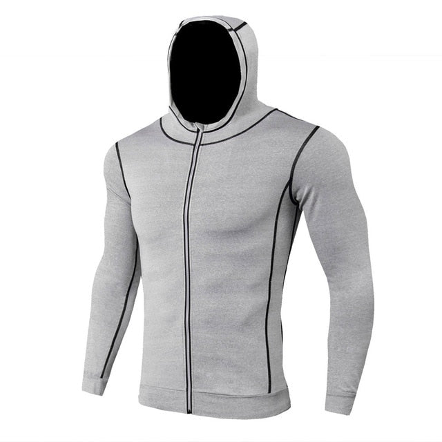 Black Solid Compression Jacket