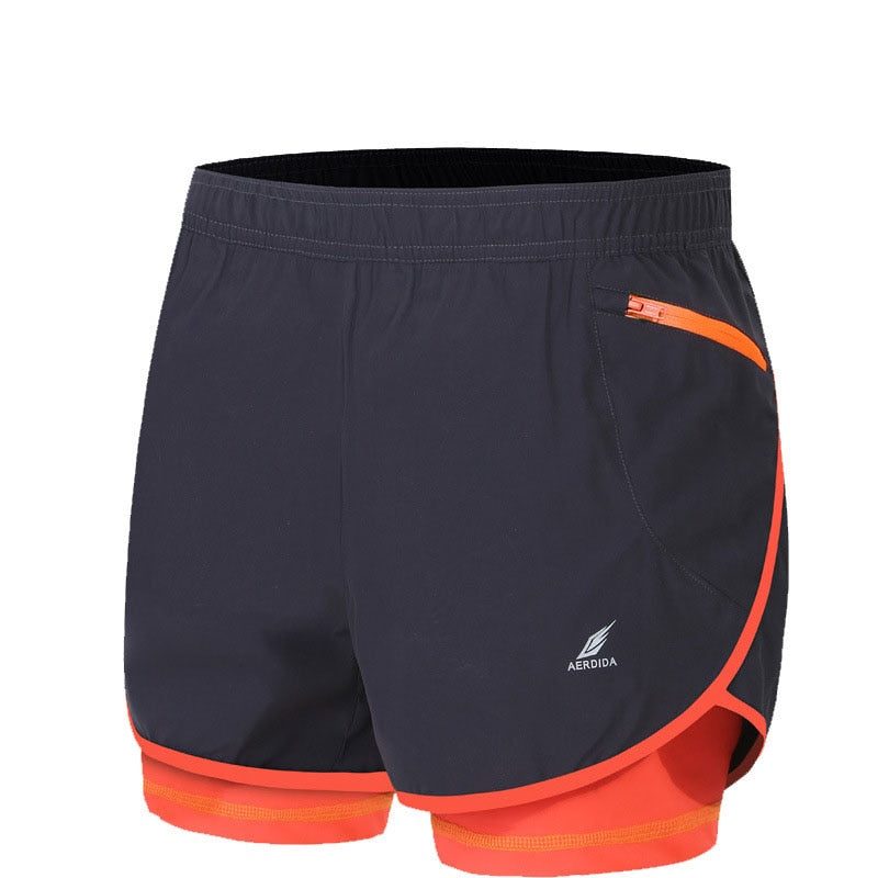 2 in 1 Men's Marathon Running Shorts