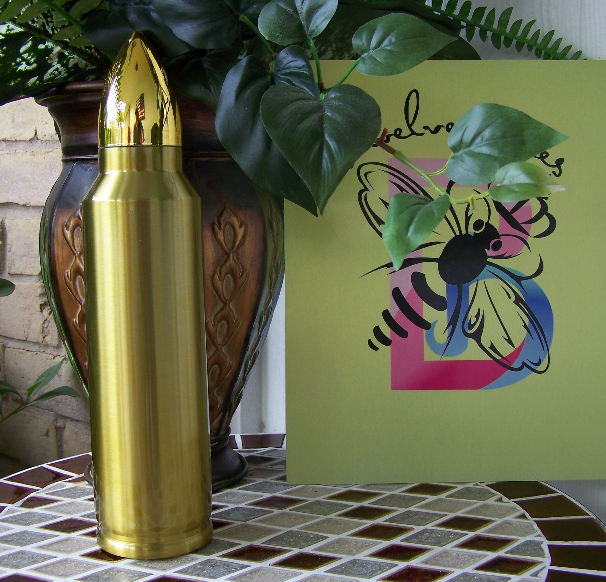 32  Ounce Bullet Thermos Gold