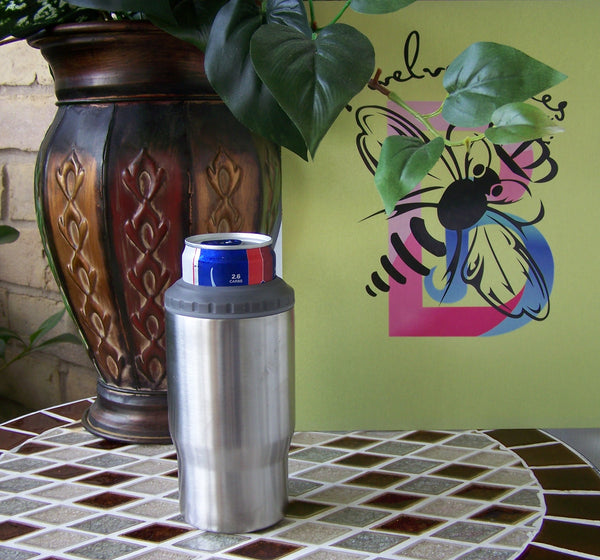 14 Ounce 4 in 1  Curve Tumbler / Kooler with 2 lids