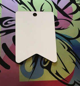 Sublimation - Bunting Shaped, Hardboard Tag/Ornament