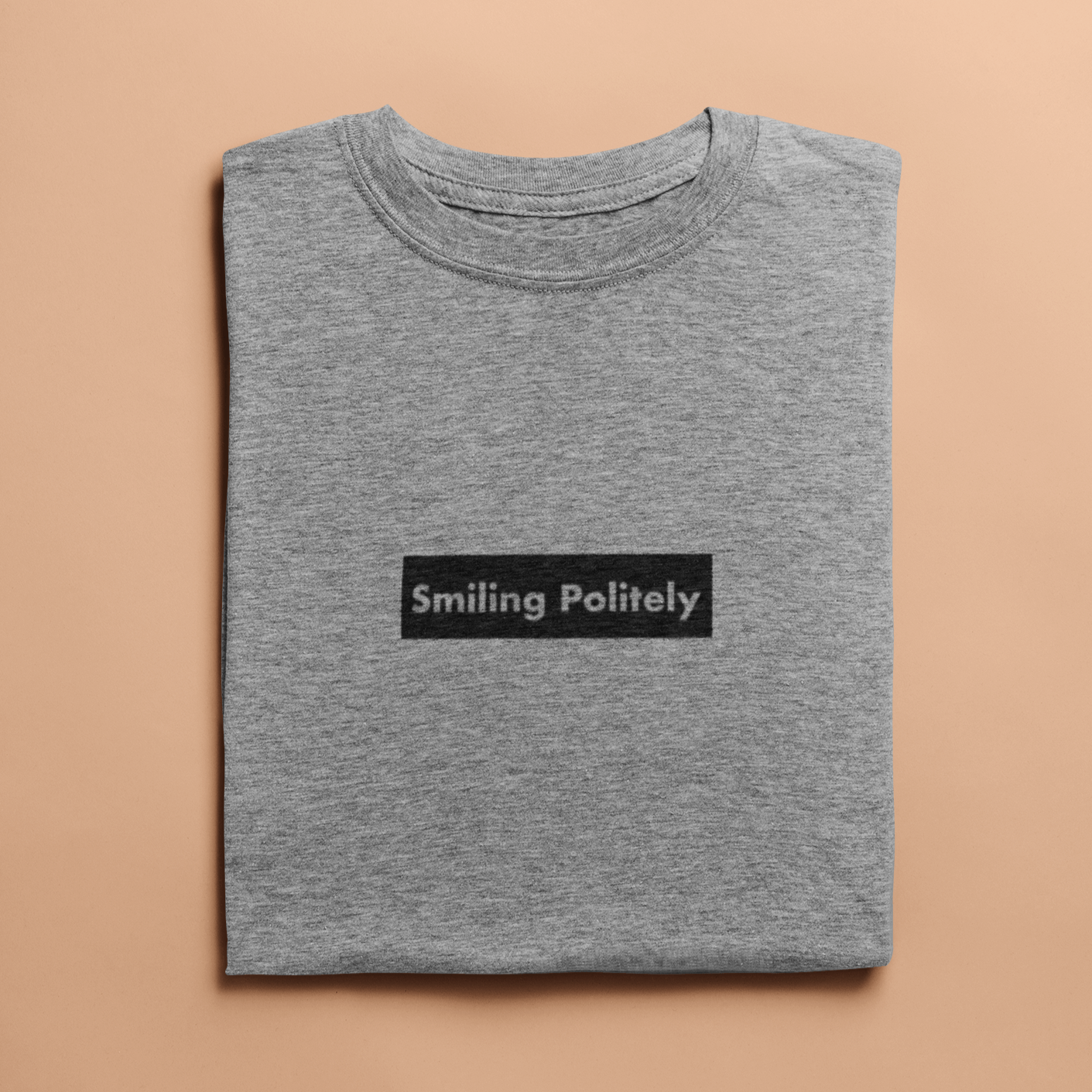 Smiling Politely Tee - Unforgettable Luncheon