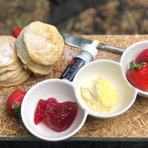 Homemade Scones With CBD Clotted Cream