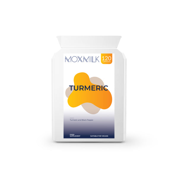 Moxmilk Turmeric with Black Pepper 500mg | 120 capsules