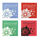 Sliquid Naturals Swirl Pillow Lubricants   Blue Raspberry