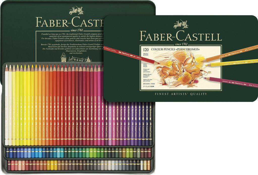 Faber-Castell Polychromos Artist's Colour pencils tin of 120 - Faber-Castell -  L.S.F. Group of Companies