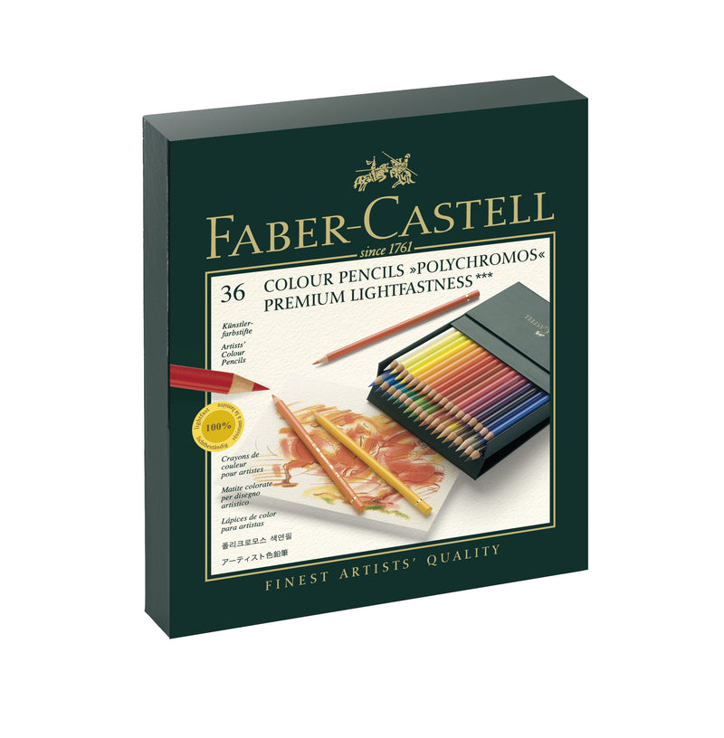 Faber-Castell Polychromos Artist's Colour Pencils Studio box of 36 - Faber-Castell -  L.S.F. Group of Companies