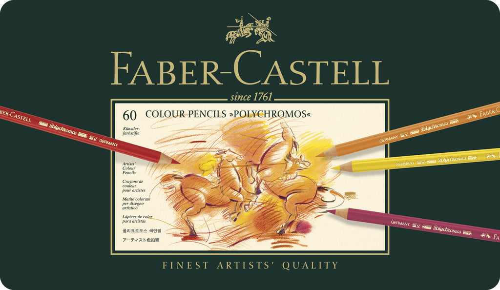 Faber-Castell Polychromos Artist's Colour Pencils tin of 60 - Faber-Castell -  L.S.F. Group of Companies