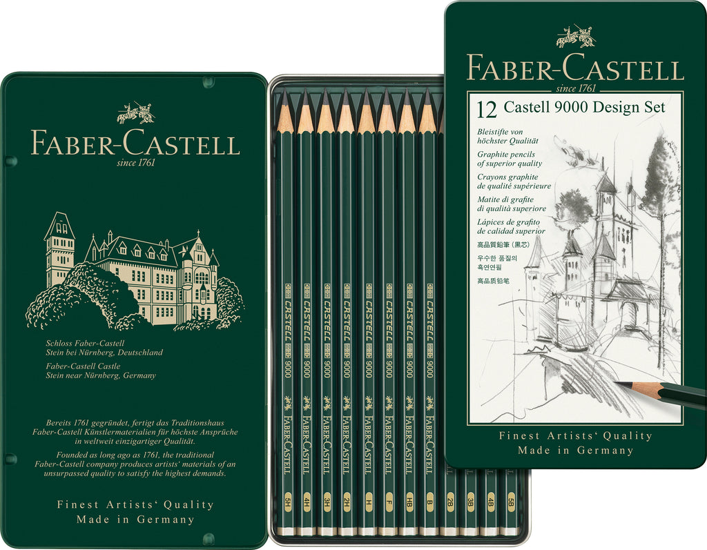 Faber-Castell Castell 9000 Design Set Tin Of 12