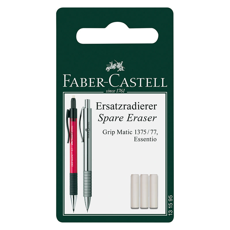 Faber-Castell Spare Eraser for Essentio Mechanical Pencil Set of 3