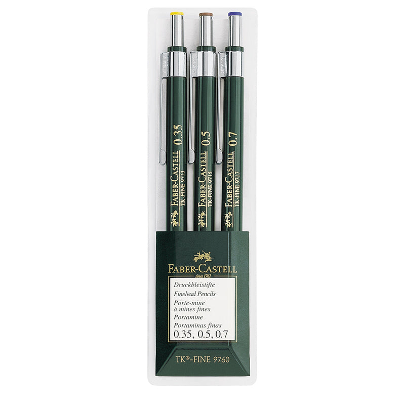 Faber-Castell TK-Fine 97.. Mechanical Pencil Wallet of 3