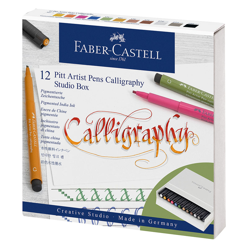 Faber-Castell Pitt Artist Pen Calligraphy Studio Box of 12