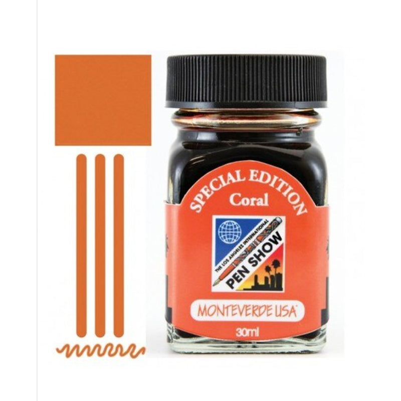 Monteverde Bottle Ink 30 ml LA Pen Show Coral