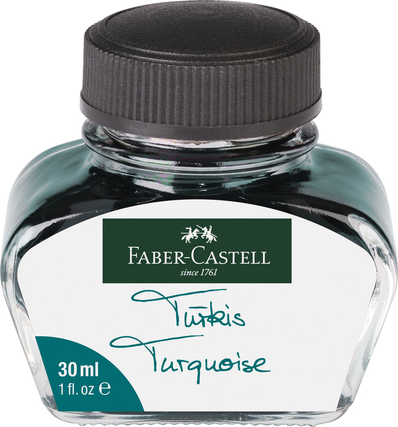 Faber-Castell Ink Bottle - Faber-Castell - Colour Turquoise - House of Fine Writing - Toronto, Canada