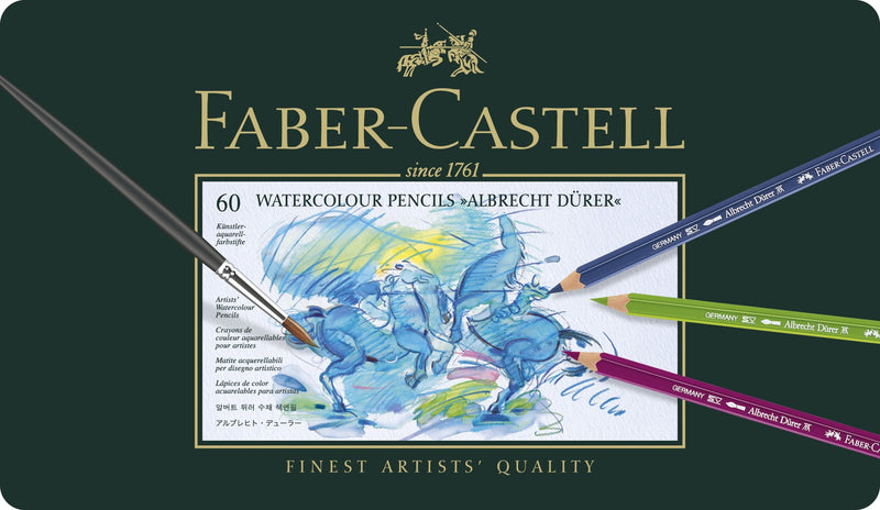 Faber-Castell Albrecht Duerer Artists' Watercolour Pencils tin of 60 - House of Fine Writing - Toronto, Canada