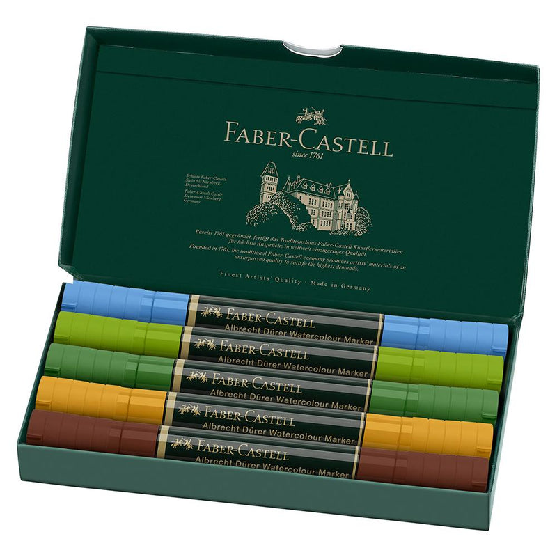 Faber-Castell Albrecht Duerer Watercolour Marker Plein Aur Wallet of 5 - House of Fine Writing - Toronto, Canada