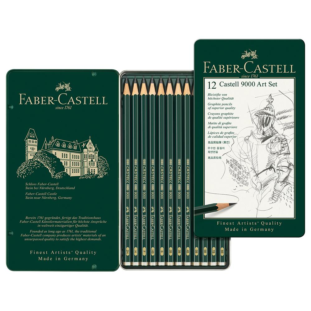 Faber-Castell Castell 9000 Design Art Set Tin of 12 - Faber-Castell - House of Fine Writing - Toronto, Canada
