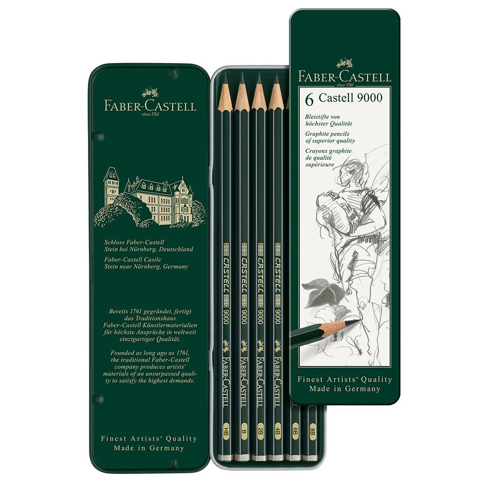 Faber-Castell Castell 9000 Design Set Tin of 6 - Faber-Castell - House of Fine Writing - Toronto, Canada