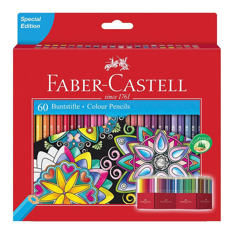 Faber-Castell Colour Pencils Box of 60 - Faber-Castell - House of Fine Writing - Toronto, Canada