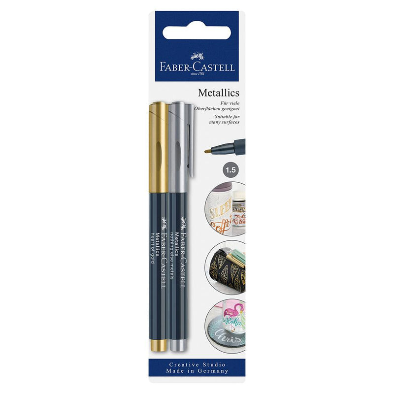 Faber-Castell Creative Studio Metallic Marker - Faber-Castell - Colour Gold and Silver - House of Fine Writing - Toronto, Canada