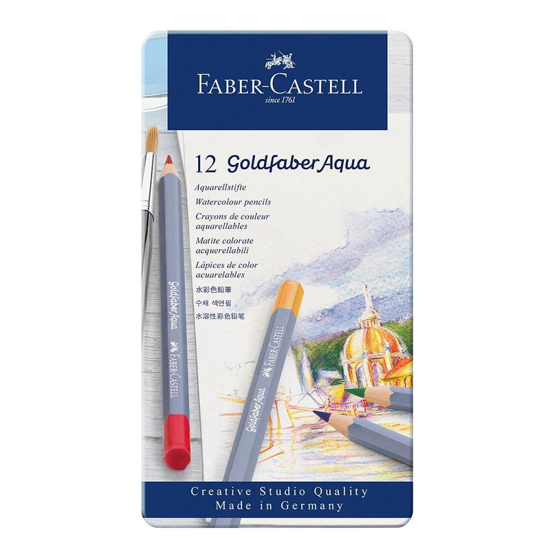 Faber-Castell Goldfaber Aqua Watercolour Pencils Tin of 12 - Faber-Castell - House of Fine Writing - Toronto, Canada