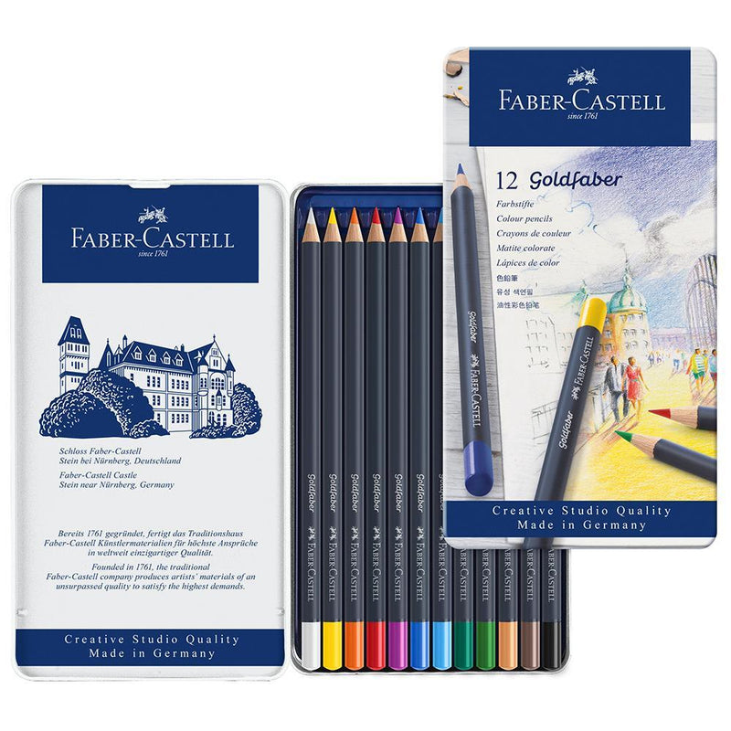 Faber-Castell Goldfaber Colour Pencils Tin of 12 - Faber-Castell - House of Fine Writing - Toronto, Canada