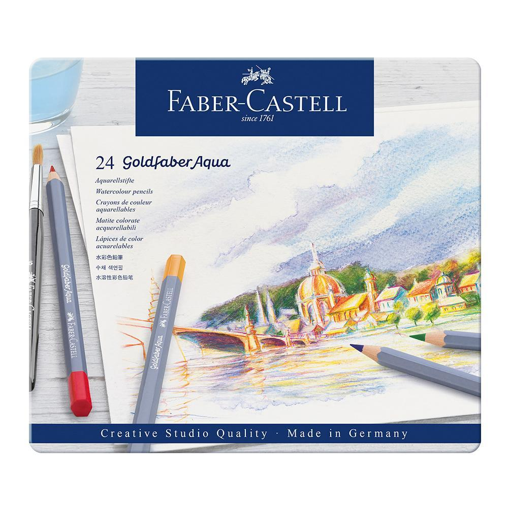 Faber-Castell Goldfaber Aqua Watercolour Pencils Tin of 24 - Faber-Castell - House of Fine Writing - Toronto, Canada