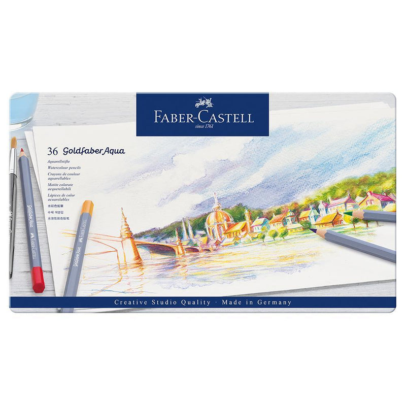 Faber-Castell Goldfaber Aqua Watercolour Pencils Tin of 36 - Faber-Castell - House of Fine Writing - Toronto, Canada
