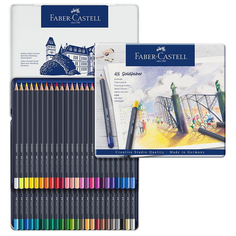 Faber-Castell Goldfaber Colour Pencils Tin of 48 - Faber-Castell - House of Fine Writing - Toronto, Canada