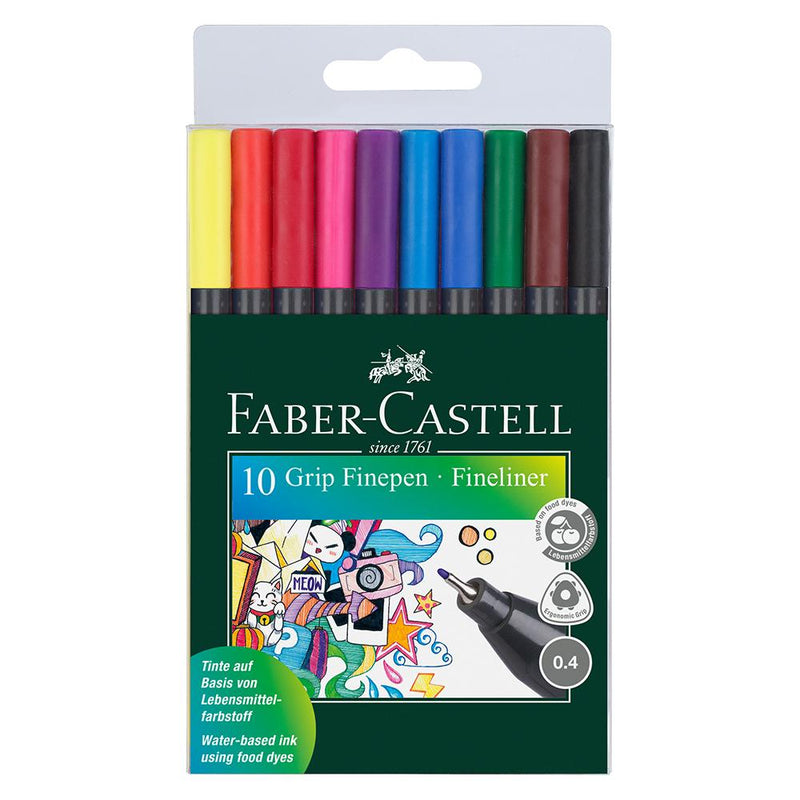 Faber-Castell Grip Finepen Wallet of 10 - Faber-Castell - House of Fine Writing - Toronto, Canada