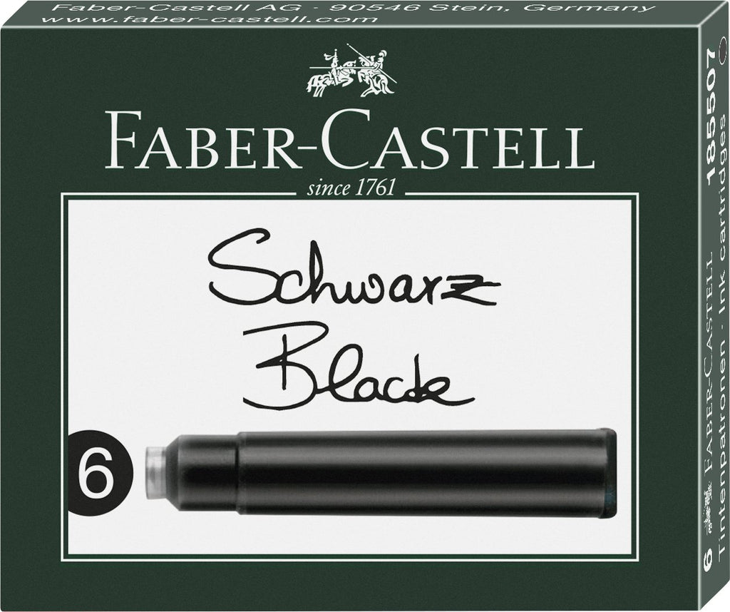 Faber-Castell Ink Cartridges - Faber-Castell - Colour Black - House of Fine Writing - Toronto, Canada