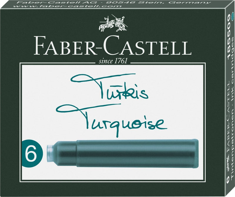 Faber-Castell Ink Cartridges - Faber-Castell - Colour Turquoise - House of Fine Writing - Toronto, Canada