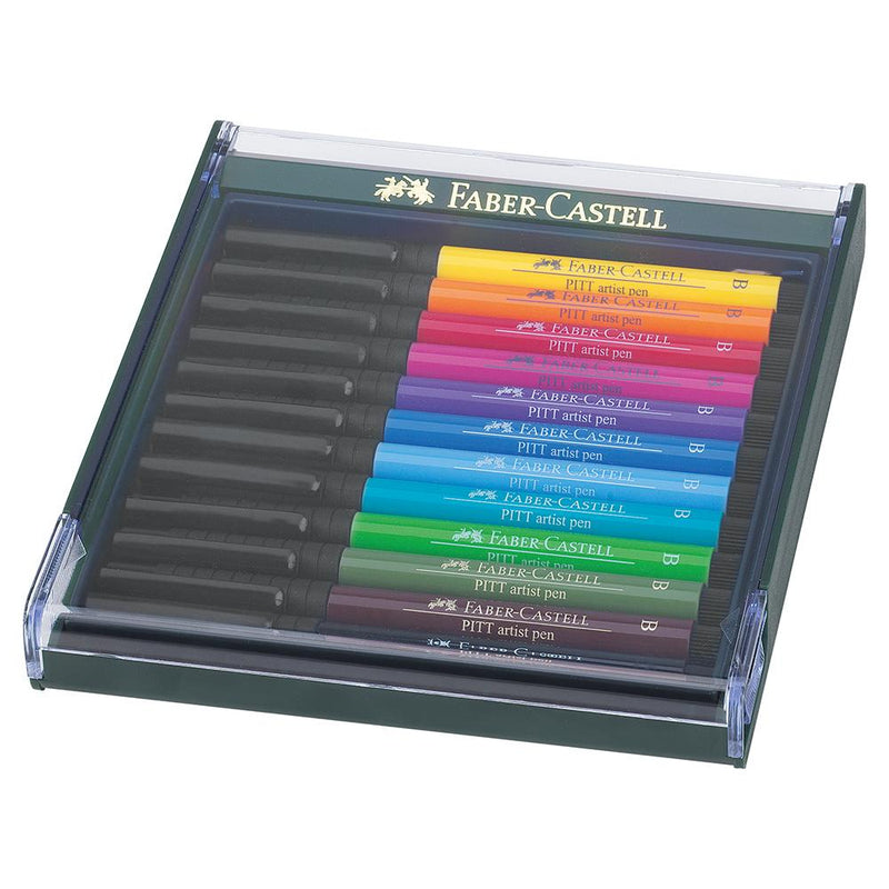 Faber-Castell Pitt Artist Pen Set of 12 - Faber-Castell - Colour Basic - House of Fine Writing - Toronto, Canada