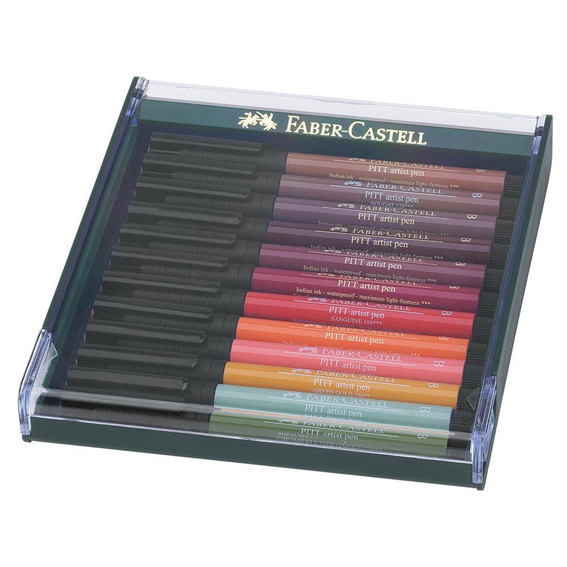 Faber-Castell Pitt Artist Pen Set of 12 - Faber-Castell - Colour Earth - House of Fine Writing - Toronto, Canada
