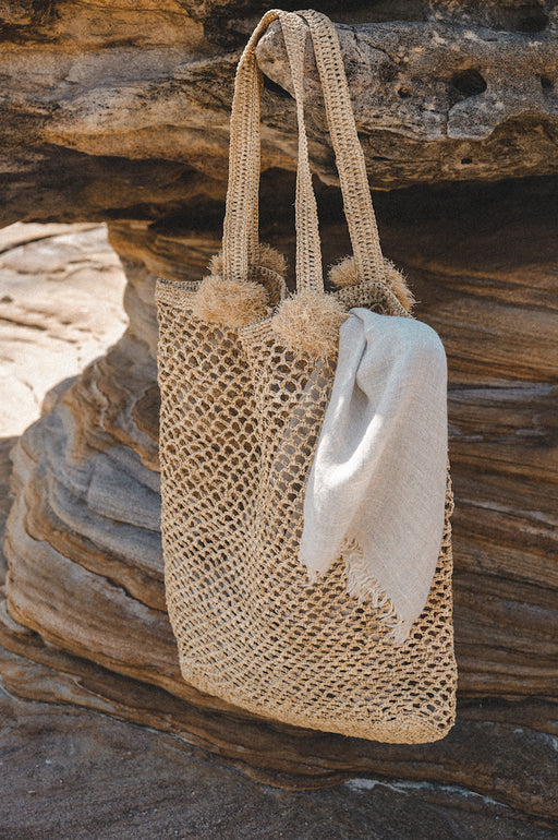 Mala Woven Bag in tea