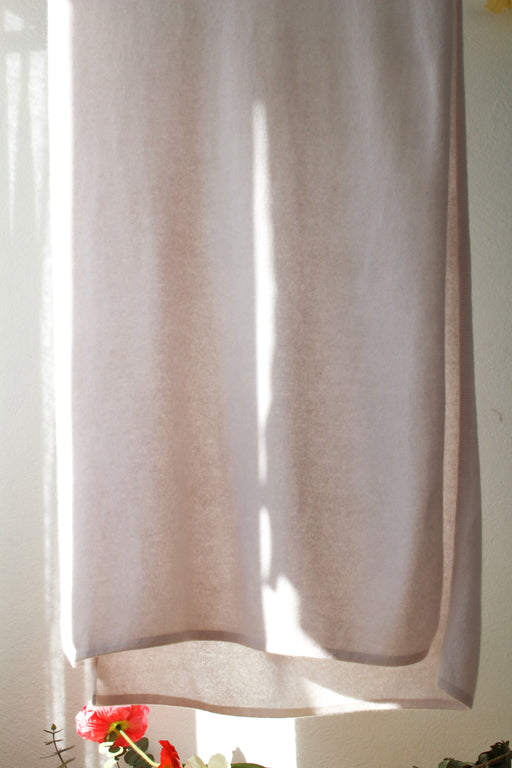 Fine Cashmere Scarf - Pale Pink