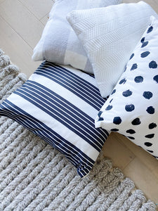 September Stripe Pillow Cover