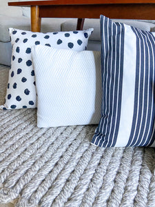 Naomi Chevron Lumbar Pillow Cover