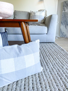 Applewood Plaid Square Pillow Cover