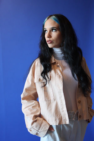 Light Beige Cropped Jacket