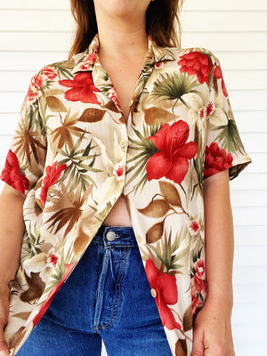Floral Vacation Top (Plus)
