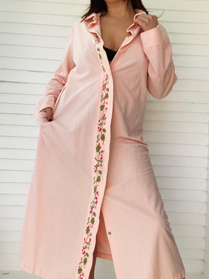 Pink Embroidered Robe