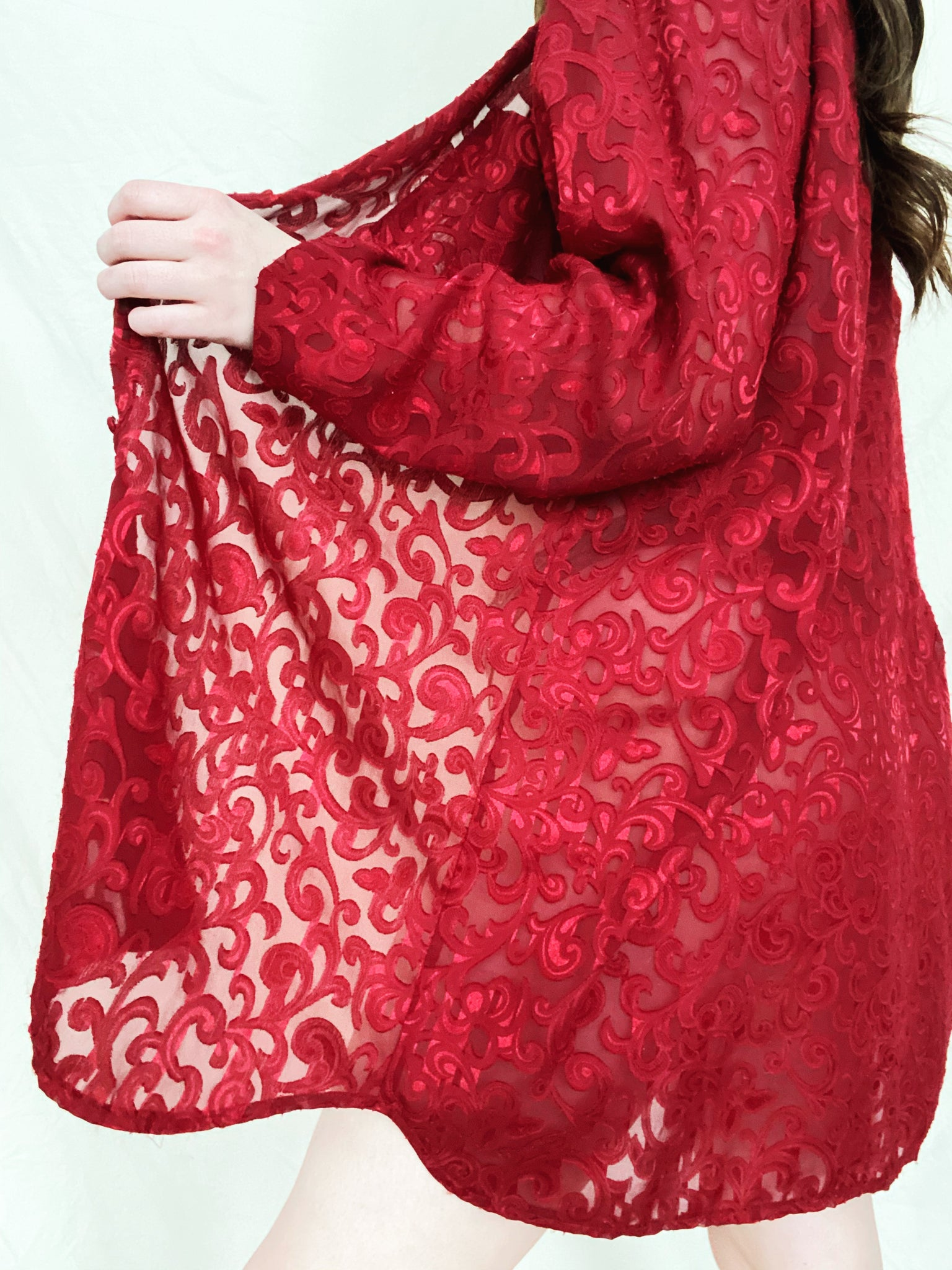 Sheer Brocade Tunic