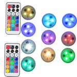 "Light Pods Large 10pc - Remote Control Submersible LEDs 1.5"" OD - w/ breathing mode"