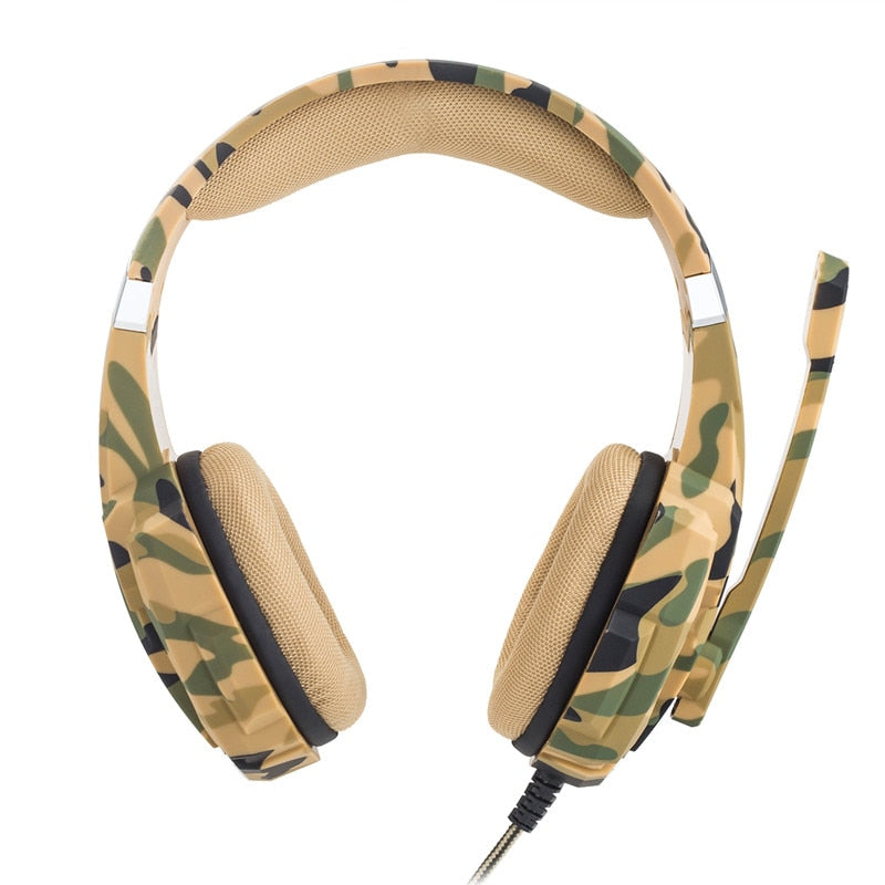 Kotion Each G9600 Camouflage Stereo Gaming Headset Noise Cancelling He