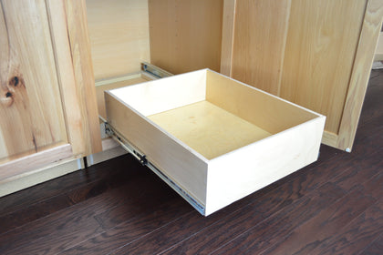 Slide out drawer for cabinet