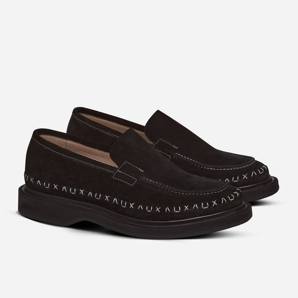 ULTRA STITCH LOAFER BLACK SUEDE